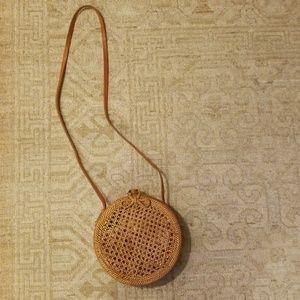 Handbags - Cane basket weaves bag